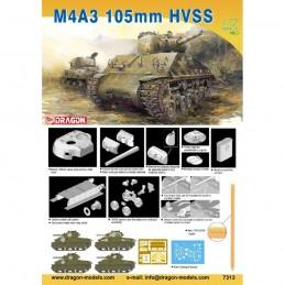 D7313 1:72 M4A3 105mm HVSS