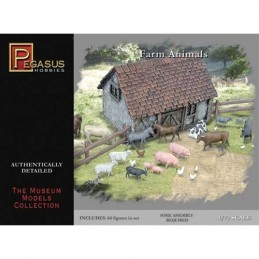 PG7052 1:72 Farm Animals