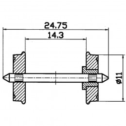 R40264   KOŁA 11 mm